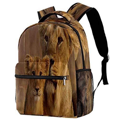 Lioness and Her - Mochila escolar para bebé, mochila para viaje, estilo informal, para viajes, motivo 1 (Multicolor) - bbackpacks004