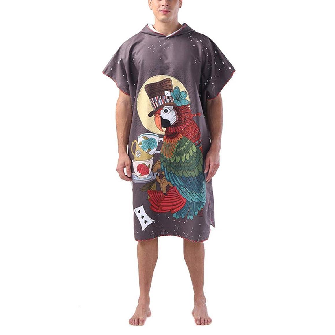 虎シングルカナダ速乾性バスローブ、ビーチマント、バスタオル、更衣室、バスタオル、成人ファッション、速乾性バスタオル水泳、フィットネス-8-110*88cm