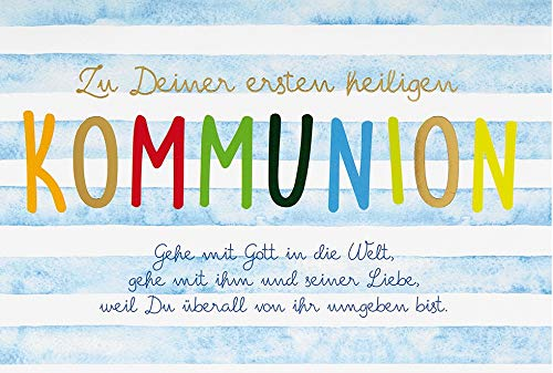 Karte zur Kommunion Basic Classic - Textkarte - 11,6 x 16,6 cm