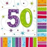 NET TOYS 16 tovaglioli Compleanno | Salvietta di Carta 50...