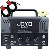 JOYO Zombie Bantamp 20w Pre Amp Tube Hybrid Guitar Amp head Bundle with Built in Cab Speaker Amp Simulation and Bluetooth Wireless Connectivity with 2 Instrument Cable and Zorro Sounds Polishing Cloth