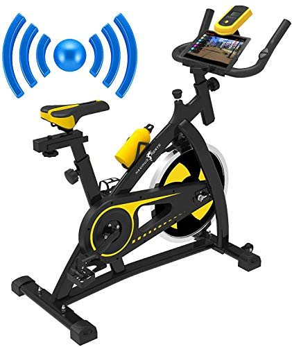 Maximus Sports Bluetooth Indoor Cycling Exercise Bike Stationary Studio Cycles Aerobic Training Fitness Cardio