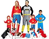 DC Comics Superman Superhero Halloween Pet Costume Sweater For Small Sized Dogs Or Cats (Small)