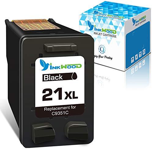 Inkwood Remanufacturado HP 21 XL 21XL Cartucho de Tinta ( 1 Negro) para HP Deskjet 3940 D1530 D2360 D2460 F2180 F2224 F380 F4180 Officejet 4315 4355 5610 5615 PSC 1410