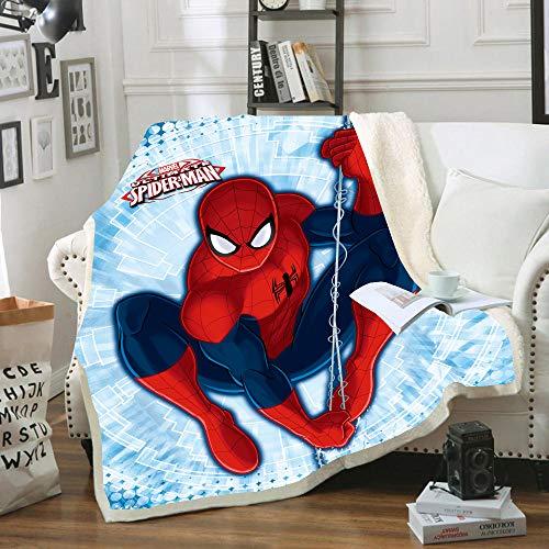 HLSM Spiderman Kinder Fleece-Überwurf, Decke, Avengers-Marvel, bedruckter Fleece-Überwurf für Erwachsene und Kinder, tolles Geschenk für Kinder, Polyester Microfaser Fleece, A06, 150X200CM