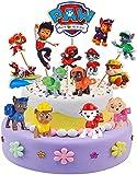 REDO 21 figuras decorativas para tartas de cumpleaños de la Patrulla Canina, para niños, niñas, niños