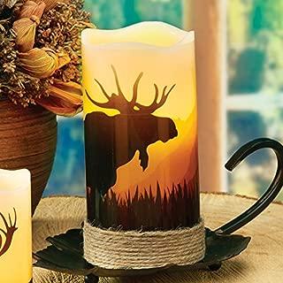 Moose LED Candle - Rustic Decor
