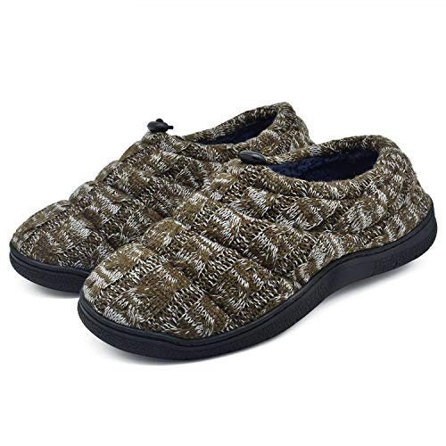 Zapatillas de Hombre Zapatos de Vampiro de Cachemira Zapatos de Interior y cálidos Zapatos de Espuma Antideslizante