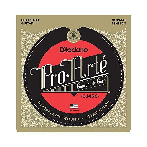 D'Addario EJ45C - Juego de cuerdas para guitarra clásica de nylon en Sol, .028-.044 (tensión media)
