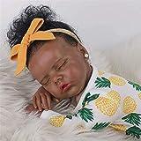 58cm Reborn Baby Dolls Peau Noire Fille Africaine Nouveau-Né Poupée Doux Plein Silicone Réaliste Nourrir Poupées Léger Lavable Tout-Petit Poupée Cadeaux De Noël Jouets pour Enfants
