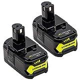 KINGTIANLE 2packs 6.0Ah 18V Replacement Battery for...