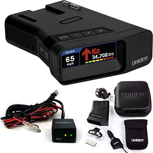 Uniden R7 Extreme Long Range Laser/Radar Detector, Built-in GPS w/Real-Time Alerts, Dual-Antennas w/Directional Arrows, & RDA-HDWKT Smart Hardwire Kit with Mute/Mark Button, LED Alert & Power LED
