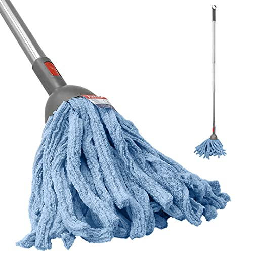 FAYINA Premium Microfiber Wet Mop for Hardwood, Laminate, Tile Flooring with Stainless Steel Handle Extendable up to 56 Inches