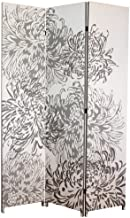 kieragrace Bota Triple-Panel Floor Screen - 47 x 71, Chrysanthemum Design