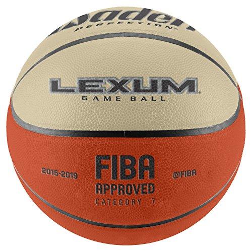 Baden Sports Elite Lexum Balón de baloncesto para competición, diseño aprobado por la FIBA, revestimiento de cuero y microfibra de calidad, color Marron et Crème, tamaño 7