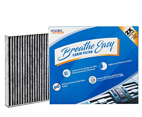 Spearhead Premium Breathe Easy Cabin Filter, Up to 25% Longer Life w/Activated Carbon (BE-182)