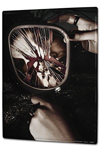 LEotiE SINCE 2004 Blechschild Wandschild 30x40 cm Vintage Retro Metallschild Retro zerbrochener Spiegel