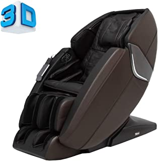 Ti-Prime 3D New Technology Full Body Massage Chair FDA Zero Gravity Recliner with Tapping, Heating and Foot Rollers Best Massage Chair (Brown)