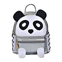 Cute Panda Backpack for Girls and Boys Waterproof Leather Small Travel Bag