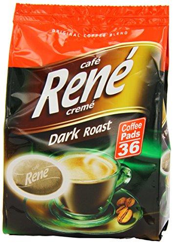 Caf? Rene Crem? Dark Roast Coffee Pads 252 g (Pack of 2, Total 72 Coffee Pads)