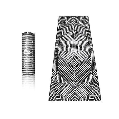 Yoga Design Lab Hot Yoga Handtuch | rutschfest, leicht, recyceltes, saugfähiges Mikrofaser Yogahandtuch | schnelltrocknend, waschmaschinenfest (Optical)