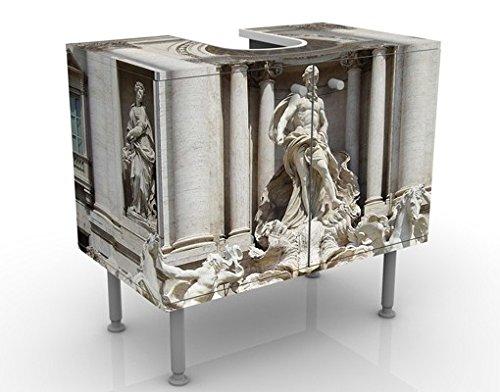 Apalis Waschbeckenunterschrank Fontana Di Trevi 60x55x35cm Design Waschtisch, Größe:55cm x 60cm