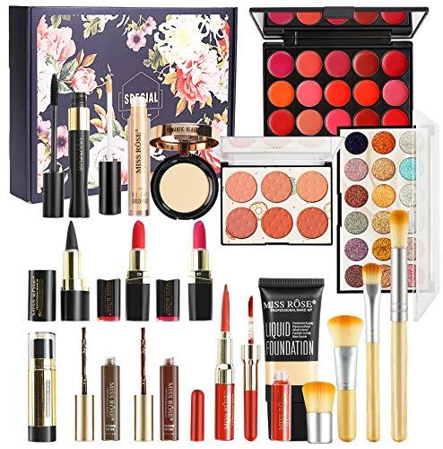 CHSEEO Schmink Geschenkset Make-Up Set Kosmetik Makeup Paletten Schminkkoffer Schminke für Gesicht, Augen und Lippen #8