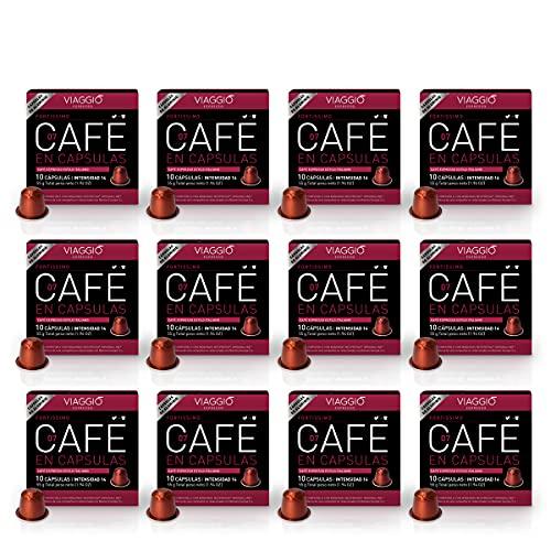 Viaggio Espresso Cápsulas de café compatibles con máquinas Nespresso Fortissimo (120 Cápsulas)