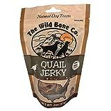 Wild Bone Company Quail Jerky Natural Dog Treats, 2 Ounces, Made in The USA