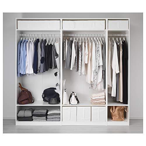 PAX szafa na ubrania 250 x 58 x 236,4 cm biała
