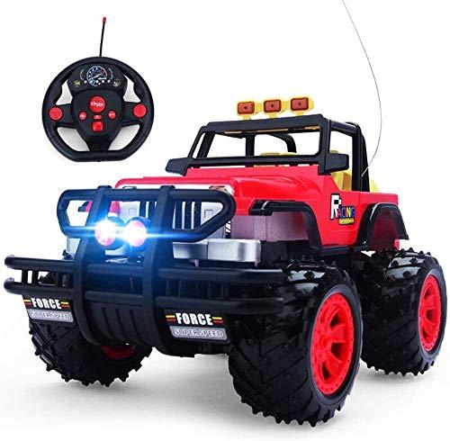 LCFF Macchina Radiocomandata Telecomandata 1:14 RC Fuori Strada Auto Telecomando Camion Veicolo 2.4Ghz 4WD High Speed Buggy cingolate for 4 Anni Adulti e Bambini (Color : Red)