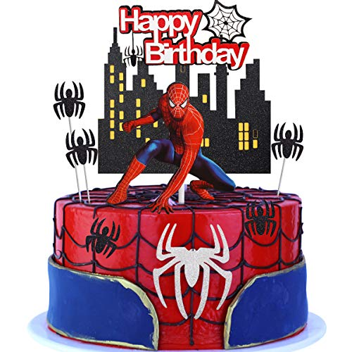 Happy Birthday Topper - Decorazione Torta Di Compleanno Cake Decorazione Torta Festa Compleanno Topper Buon Compleanno Banner Decorazione Torta Per Ragazzi Ragazze Bambini Compleanno(9PCS)