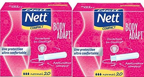 Nett Body Adapt Tampons, Normal, mit Kompakt-Applikator, 2x20Stück