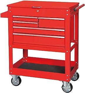 Fanuosuwr Chariot à Outils de Grande Capacité avec poignée 5 tiroirs 1 Tablette Rouleau Armoire à Outils Boîte de Rangemen...