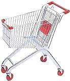 Ligera carrito de la compra con ruedas Asiento carretilla del supermercado con el niño, metal for el hogar Mayores de las compras Cesta adultas centro comercial Trolley Acabado de camiones de carga de