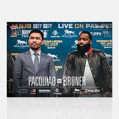 2019 Manny Pacquiao vs Broner MGM Grand Las Vegas Showtime Card