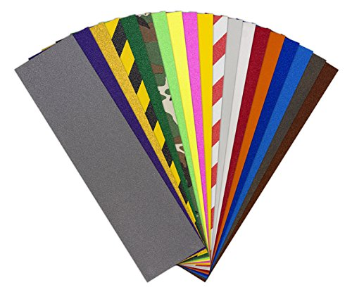Jessup Grip Tape-GT-101 Colors Skateboard Griptape Sheets All Colors Assorted Pack, 9 inches x 33 inches