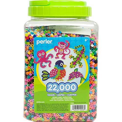 Price comparison product image Perler Beads Bulk Assorted Multicolor Fuse Beads for Kids Crafts,  22000 pcs