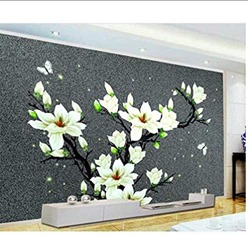 Tony plate 3D fototapete Foto fototapete Plakate Bilder Wohnzimmer Wandbild Blume Schmetterling Sand Wand 3D Malerei Bild Wandbild fototapete für Wand 3D Hintergrundbild-300cmx210cm(LxH)