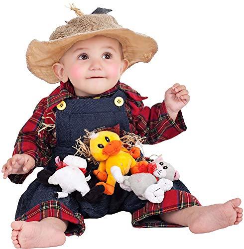 VENEZIANO Costume di Carnevale da Piccolo Zio TOBIA Vestito per Neonato Bambino 0-3 Anni Travestimento Halloween Cosplay Festa Party 5092 Taglia 3