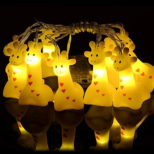 1.5 Meter Battery Powered Cute Animal Giraffe Shape 10 Led Fairy Lights String Lights for Halloween Christmas Thanksgiving Home Party Children Kids Bedroom Decoration (Giraffe)