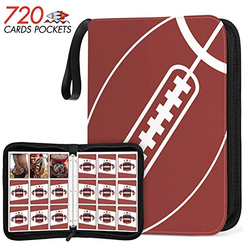 720 Pockets Football Card Sleeves Binder - Trading Cards Holder Protectors Set Fit for Pokemon Baseball and Sports Card