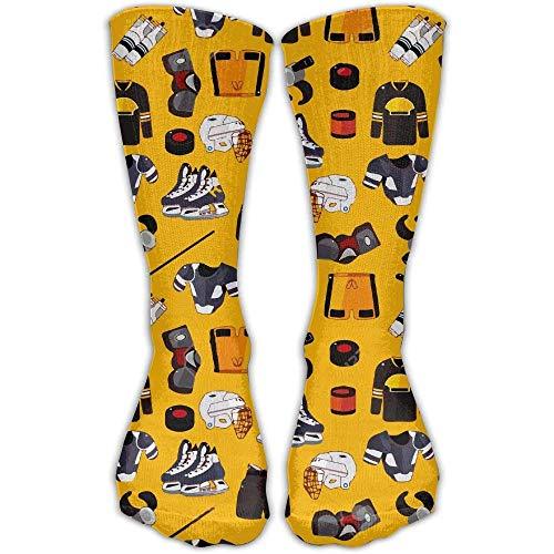 ouyjian Cartoon Ice Hockey Sport Long Novelty High Athletic Sock Outdoor Gift