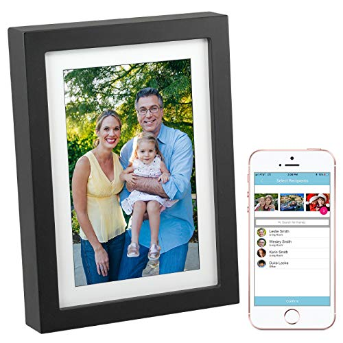 PhotoSpring 8 (16GB) 8-inch WiFi Cloud Digital Picture Frame - Battery, Touch-Screen, Plays Video and Photo Slideshows, HD IPS Display, iPhone & Android app (Black - 15,000 Photos)