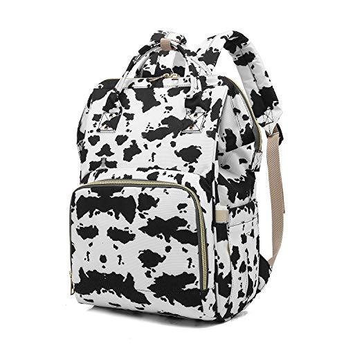 Harajuku Style Cow Spots Print Diaper Bag Backpack Maternity Changing Bag Backpacks for Mom Dad