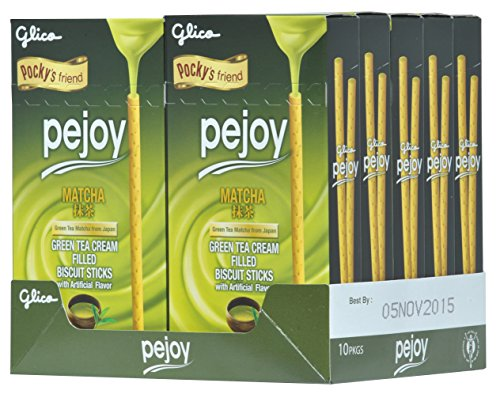 Pejoy Biscuit Stick, Matcha, 1.98 Ounce (Pack of 10)