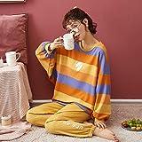 Pajamas Nightwear Women Pajamas Set Autumn Cartoon Printed Long Sleeve Cute Sleepwear Casual Homewear Female Pyjamas Night Suit XL Z1310