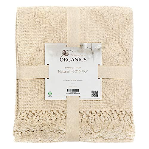 Whisper Organics Organic Cotton Throw Blanket