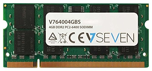 V7 V764004GBS Notebook DDR2 SO-DIMM Arbeitsspeicher 4GB (800MHZ, CL6, PC2-6400, 200pin, 1.8 Volt)