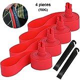 QitinDasen 4Pcs Premium PVC Antiforatura Nastro, 700C Bike Rim Strip Rim Tape Liner, Bicic...